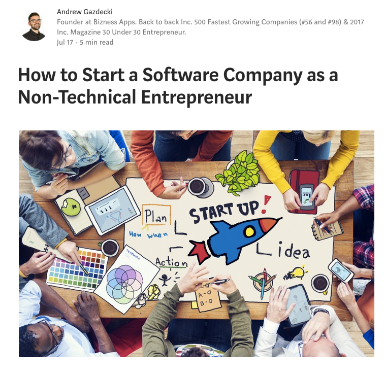 How to Start a Software Company as a Non-Technical founder