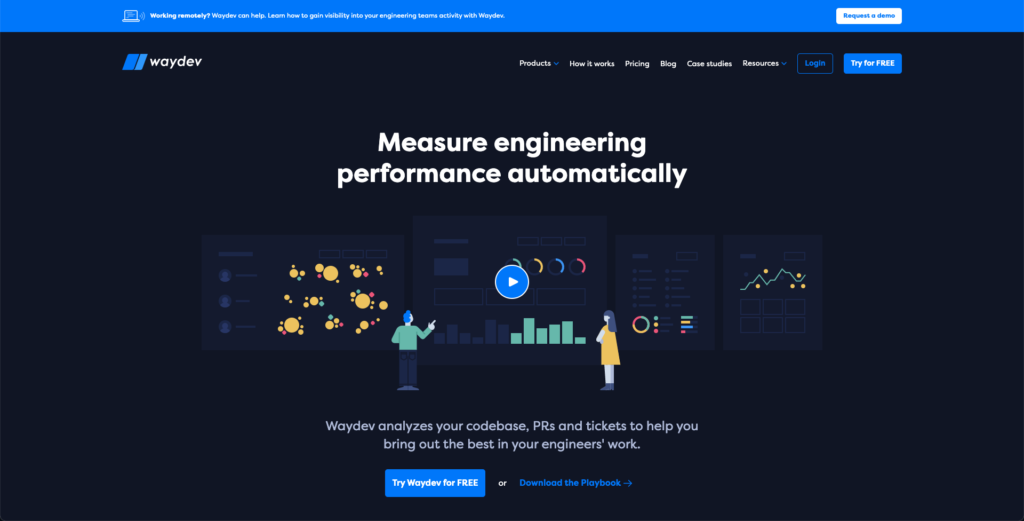 Waydev new website